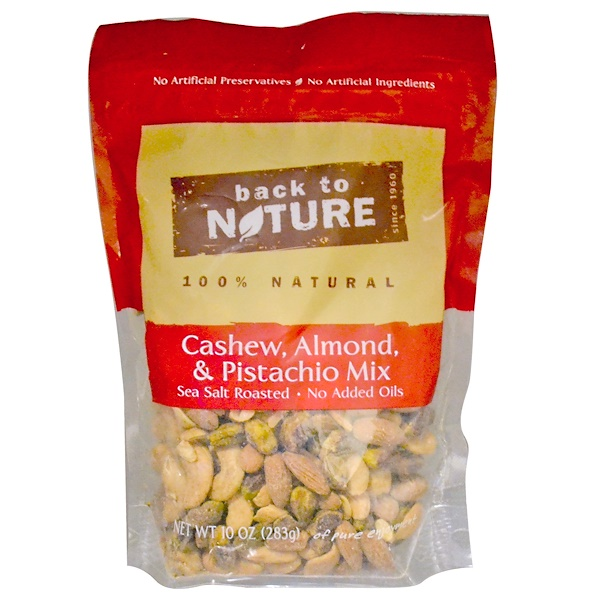 Back to Nature, Cashew, Almond & Pistachio Mix, 10 oz (283 g) (Discontinued Item)
