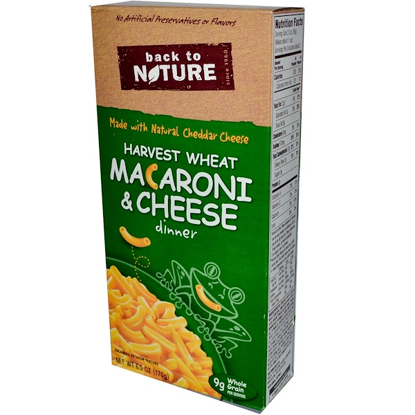 Back to Nature, Harvest Wheat  & Cheese Dinner, 6.0 oz (170 g) (Discontinued Item)