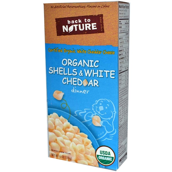 Back to Nature, Organic Shells & White Cheddar Dinner, 6 oz (170 g) (Discontinued Item)