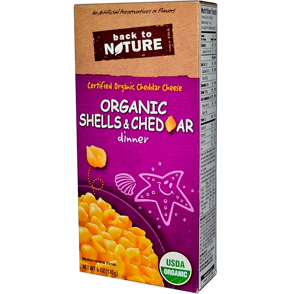 Back to Nature, Organic Shells & Cheddar Dinner, 6 oz (170 g) (Discontinued Item)