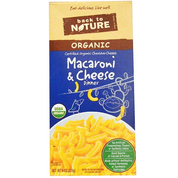 Back to Nature, Organic Macaroni & Cheese Dinner, 6 oz (170 g) (Discontinued Item)