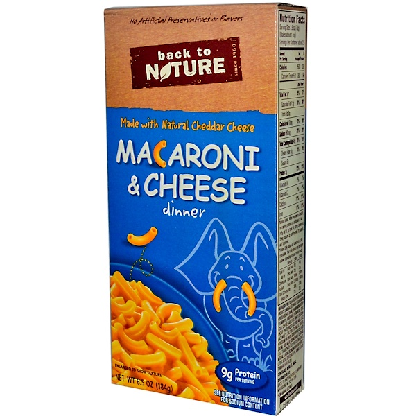 Back to Nature, Macaroni & Cheese Dinner, 6.5 oz (184 g) (Discontinued Item)