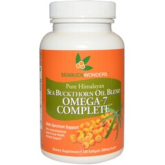 SeaBuckWonders, Sea Buckthorn Oil Blend, Omega-7 Complete, 500 mg, 120 Softgels
