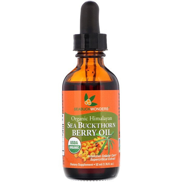 Organic Himalayan Sea Buckthorn Berry Oil, Intensive Cellular Care, 1.76 oz (52 ml)