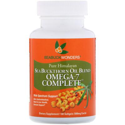 Комплекс омега-7, смесь с маслом облепихи, 500 мг, 60 мягких капсул комплекс аминокислот geon омега ликопин 700 мг 90 капсул