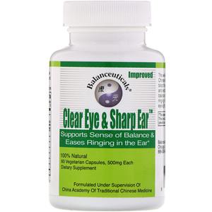 Балансьютикалс, Clear Eye & Sharp Ear, 500 mg, 60 Vegetarian Capsules отзывы