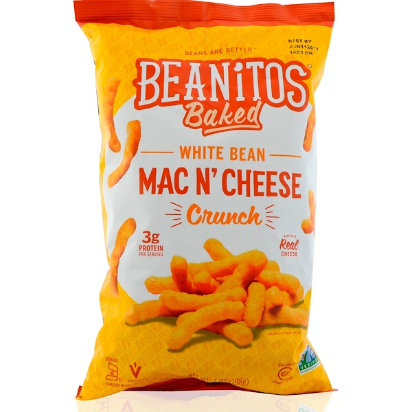 Beanitos, White Bean Crunch, Mac n' Cheese, 7 oz (198 g) (Discontinued Item)