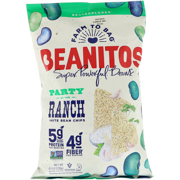 Beanitos, White Bean Chips, Party at the Ranch, 4.5 oz (128 g) (Discontinued Item)