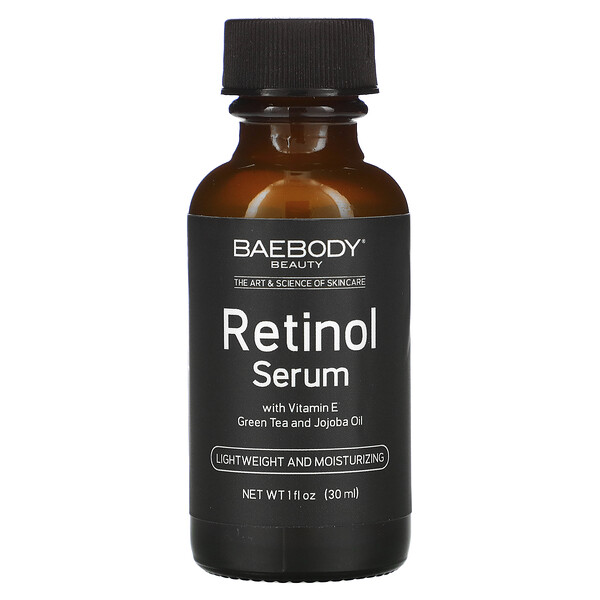 Retinol Serum with Vitamin E, Green Tea and Jojoba Oil,  1 fl oz (30 ml)