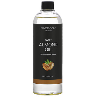 Baebody, 甜杏仁油,16 液量盎司(473 毫升)