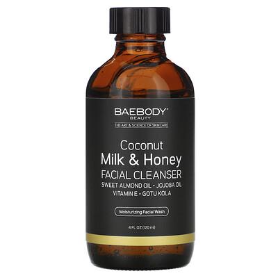 Baebody Coconut Milk & Honey Facial Cleanser, 4 fl oz (120 ml)