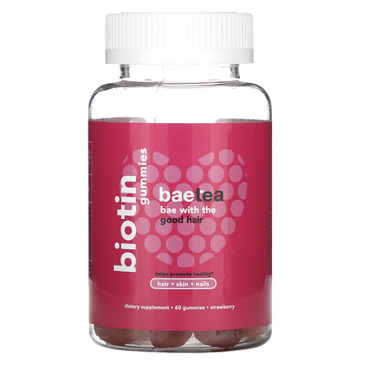 Baebody Biotin Gummies, Strawberry, 60 Gummies