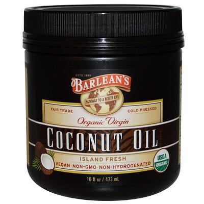 Купить Органическое кокосовое масло первого отжима, 16 жидких унций (473 мл)