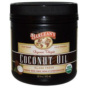 Барлинс, Organic Virgin Coconut Oil, 16 fl oz (473 ml) отзывы