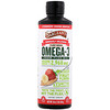 Barlean's, Seriously Delicious, Omega-3 from Flax Oil, Strawberry Banana Smoothie, 2,968 mg, 16 oz (454 g)