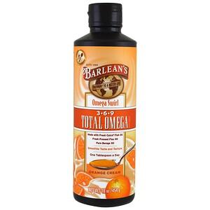 Барлинс, Total Omega 3·6·9 Supplement, Orange Cream, 16 oz (454 g) отзывы