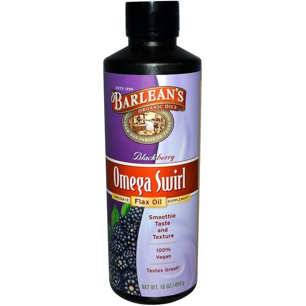 Barlean's, Омега Swirl льняное масло, с черникой, 16 унций (454 г) (Discontinued Item)