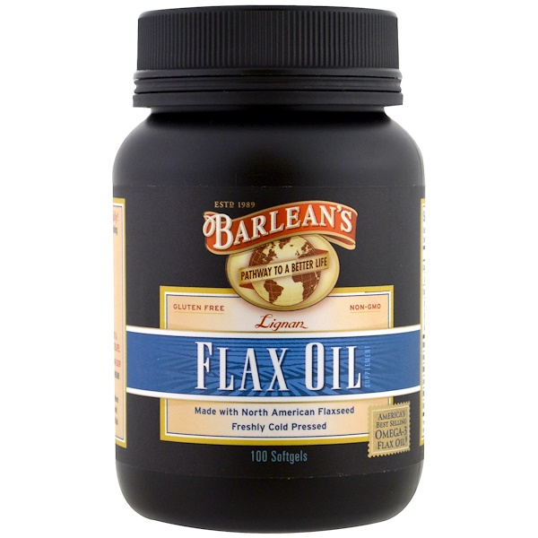 Barlean's, Lignan Flax Oil, 100 Softgels