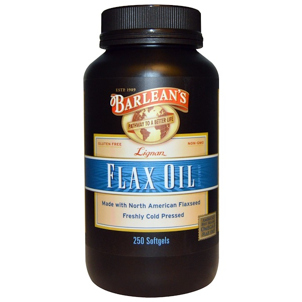 Barlean's, Lignan Flax Oil, 250 Softgels