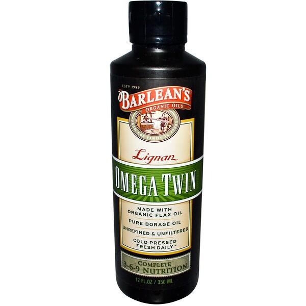 Barlean's, Lignan Omega Twin Supplement, 12 fl oz (350 ml) (Discontinued Item)