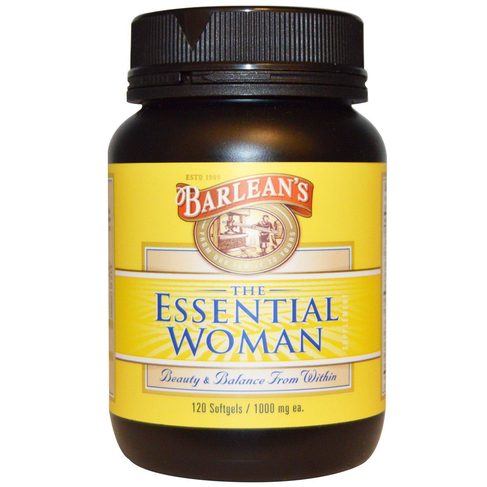 Barlean's, The Essential Woman (добавка для женщин), 1000 мг, 120 желатиновых капсул