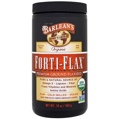 Купить Органический Forti-Flax, молотое льняное семя высшего качества, 16 унций (454 г)