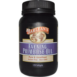 Barlean's, Evening Primrose Oil、120ソフトジェル