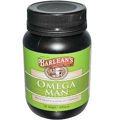 Barlean's, Omega Man Supplement, 1,000 mg, 120 Softgels