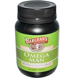Барлинс, Omega Man Supplement, 1,000 mg, 120 Softgels отзывы