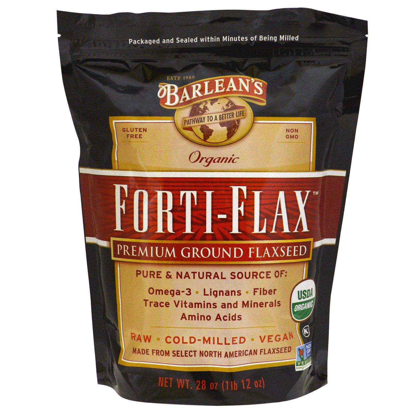 Barlean's, Органический продукт, Forti-Flax, семя льна лучшего помола, 28 унций (1 фунт 12 унций)