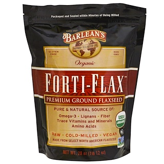Barlean's, Organic, Forti-Flax, Premium Ground Flaxseed, 28 oz (1 lb 12 oz)