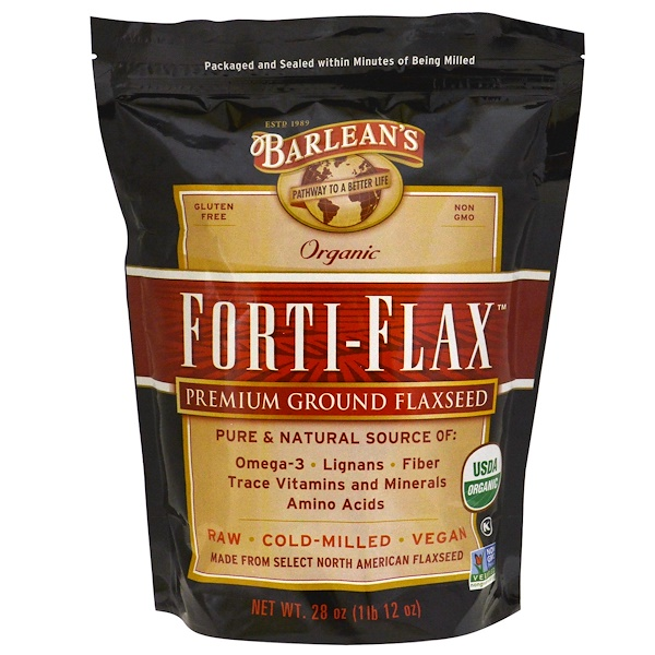 Barlean's, Organic, Forti-Flax, Premium Ground Flaxseed, 28 oz (1 lb 12 oz) (Discontinued Item)