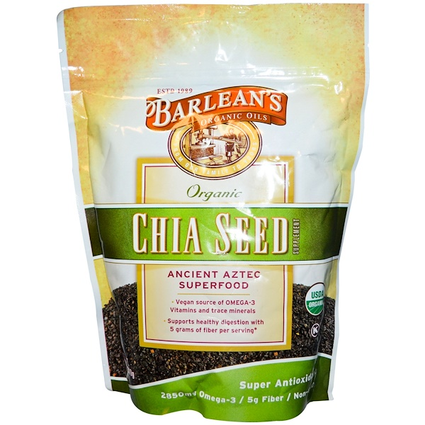 Barlean's, Organic, Chia Seed Supplement, 12 oz (340 g) (Discontinued Item)