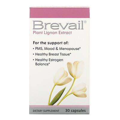 Купить Barlean's Brevail, Экстракт растительного лигнина, 30 капсул