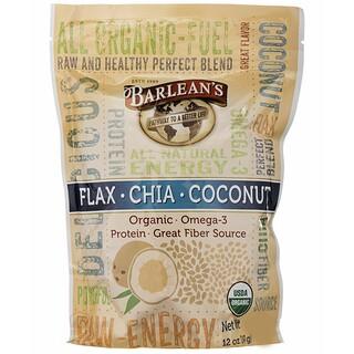 Barlean's, Flax-Chia-Coconut Blend, 12 oz (340 g)