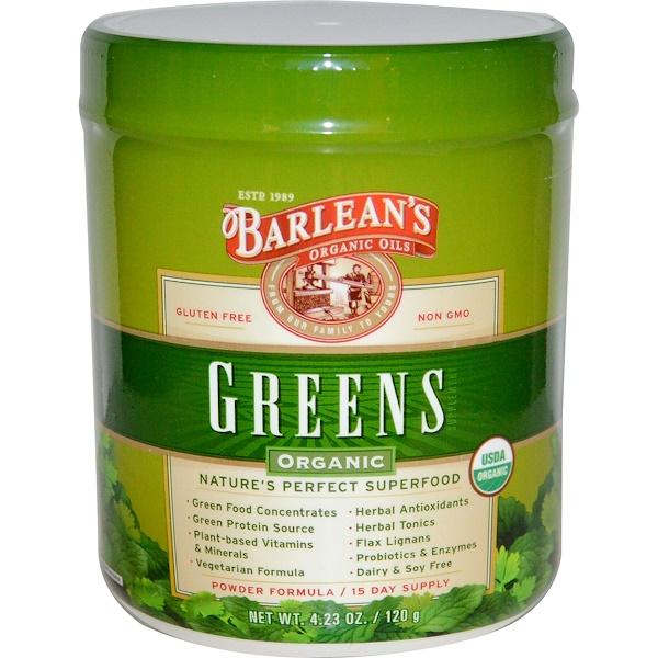 Barlean's, Organic Greens, 4.23 oz (120 g) (Discontinued Item)
