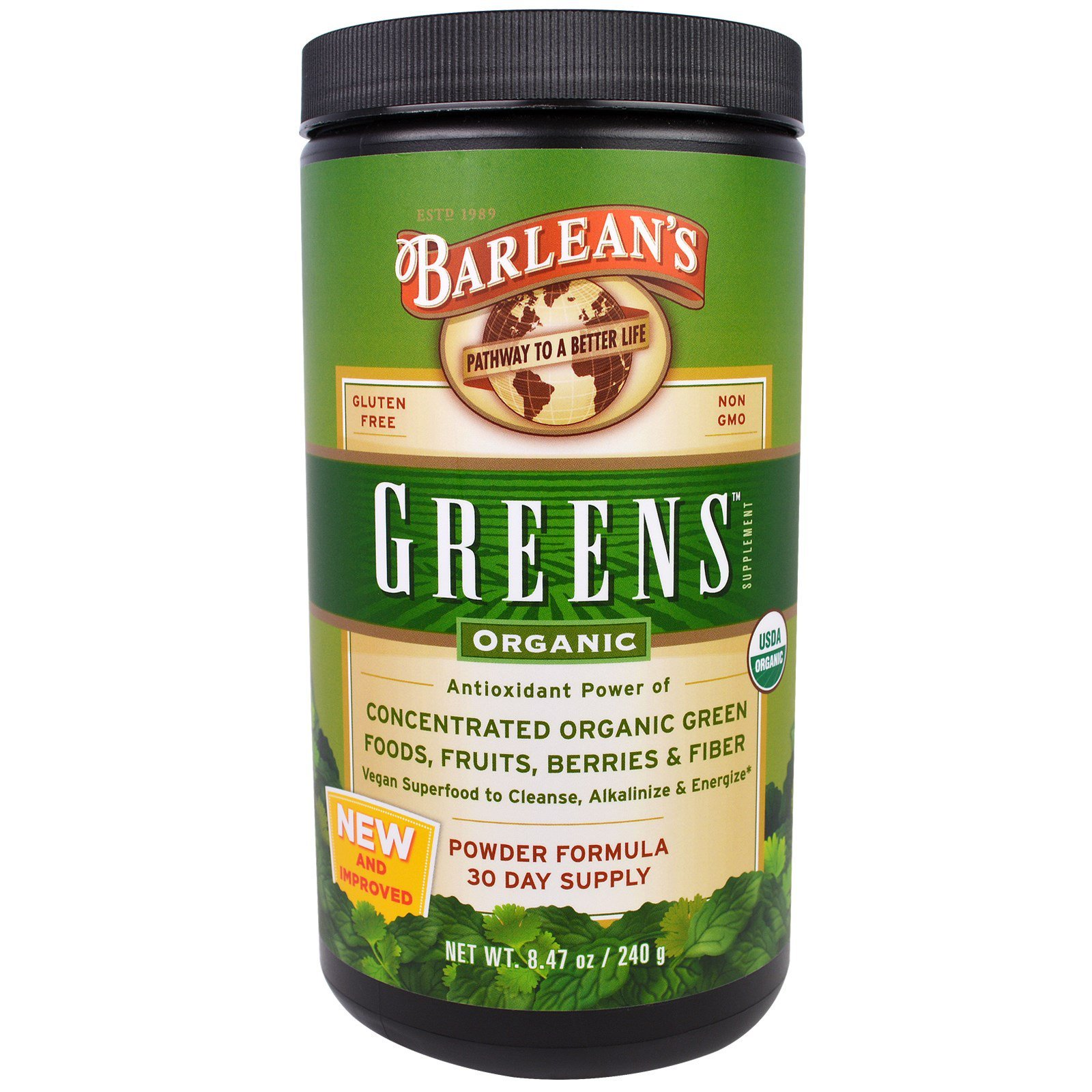 Barlean's, Greens, Powder Formula, Organic 8.47 oz (240 ...