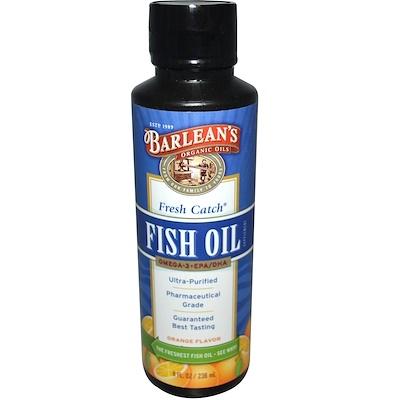 Купить Свежий рыбий жир, омега-3 EPA/DHA кислоты, со вкусом апельсина, 8 жидких унций (236 мл)