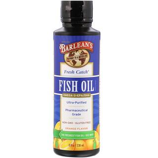 Barlean's, Fresh Catch Fish Oil, Omega-3 EPA/DHA, Orange Flavor, 8 fl oz (236 ml)