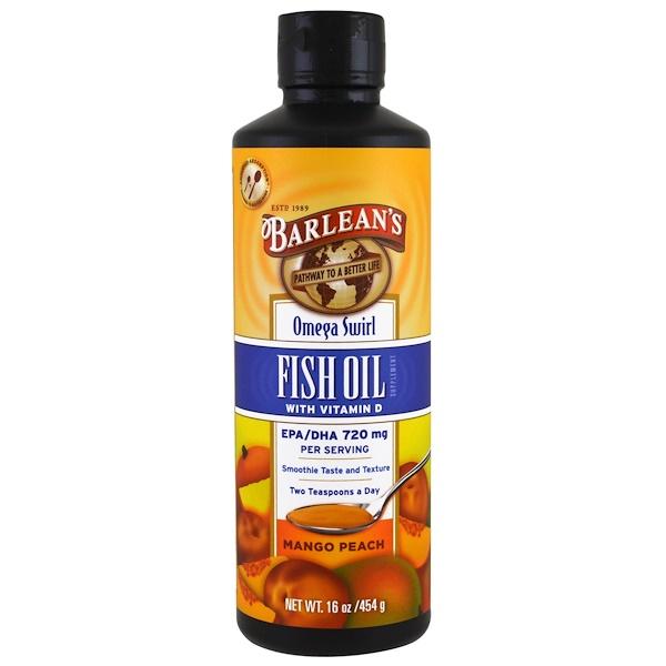 Barlean 39 s omega swirl fish oil with vitamin d supplement for Fish oil vitamin d