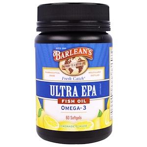 Барлинс, Ultra EPA, Fish Oil Omega-3, Lemonade Flavor, 60 Softgels отзывы