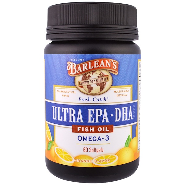 Barlean 39 s fresh catch fish oil ultra epa dha orange for Barleans fish oil reviews
