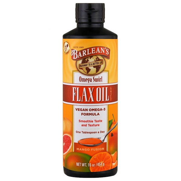 Barlean's, Omega Swirl, Flax Oil, Mango Fusion, 16 oz (454 g) (Discontinued Item)