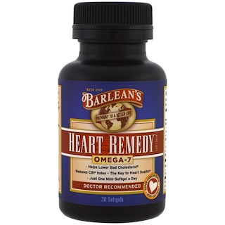 Barlean's, Heart Remedy, 30 Softgels