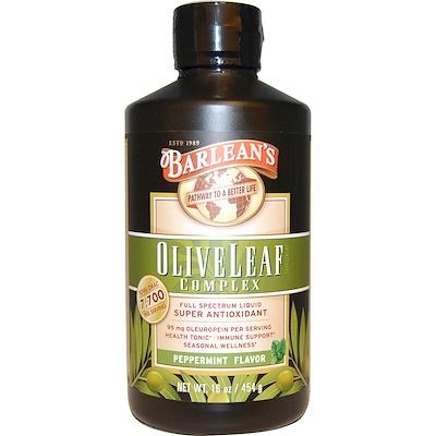 Фото - Комплекс листьев оливы, со вкусом перечной мяты, 16 унции (454 г) sport белковая смесь премиум качества со вкусом ягод 801 г 28 3 унции