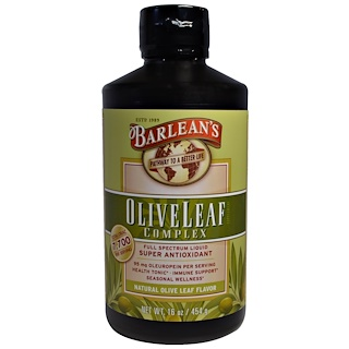Barlean's, 橄欖葉精華素,原味,16 oz (454 g)