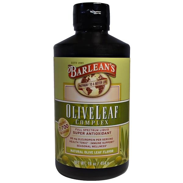 Barlean's, オリーブリーフコンプレックス、天然オリーブの葉風味、16 oz (454 g)