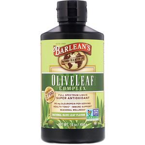 Барлинс, Olive Leaf Complex, Natural Olive Leaf Flavor, 16 oz (454 g) отзывы