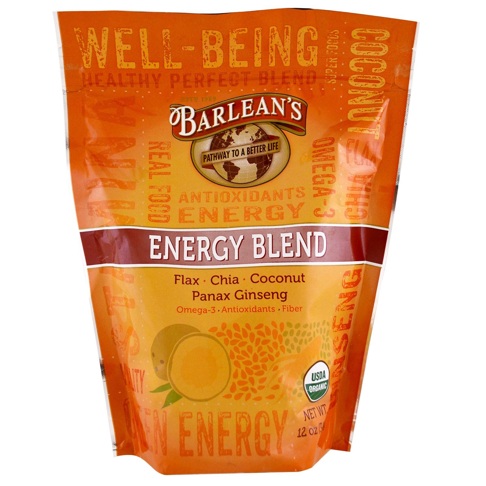 Barlean's, Органическая, энергетическая смесь, 12 унций (340 г)