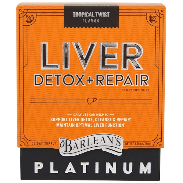 Barlean's, Liver Detox + Repair, Tropical Twist , 6.35 oz (180 g) (Discontinued Item)
